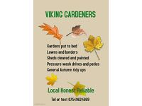 Viking Gardeners. Local, honest and reliable. Grass, lawns and borders
