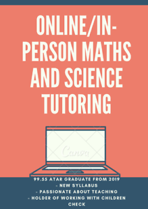 99.55 ATAR Year 7-12 Mathematics and Science Online/In-Person Tutoring