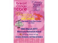BREAST CANCER CARE CHARITY BALL Dancing Through The Decades 50s 60s 70s & 80s with Glen Cooper
