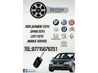 Car keys lost or spare autolocksmith