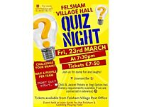 Felsham Village Hall Quiz Night