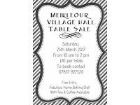 Meikleour Village Hall Indoor Table Sale