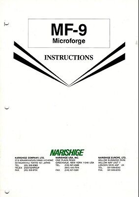 Narishige Mf-9 Microscope Microforge Instructions On Cd L0187