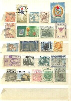 [OP7839] Worldwide lot of stamps on 12 pages