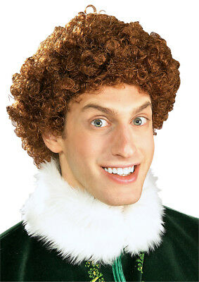 Buddy the Elf Adult Wig Curly Will Ferrell Costume Halloween - Will Ferrell Elf Halloween Costumes