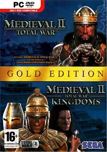 MEDIEVAL 2 TOTAL WAR w/Kingdoms Expansion GOLD for PC SEALED NEW!