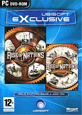 Rise Of Nations Gold With Thrones   Patriots Expansion Brand New Fast Shipping