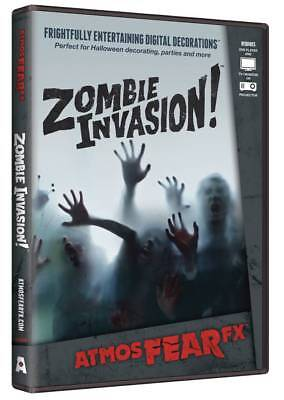 Halloween Prop - AtmosFearFx Zombie Invasion DVD for TV or window - Halloween Projection Zombies