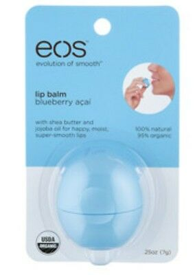 EOS Blueberry Acai Lip Balm 95% Organic and 100% Natural Retail Pack