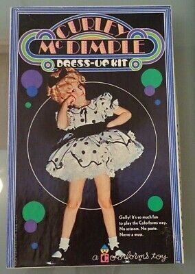 Curley McDimple Dress-Up Kit Chloroforms Set Mint in Box - Shirley Temple