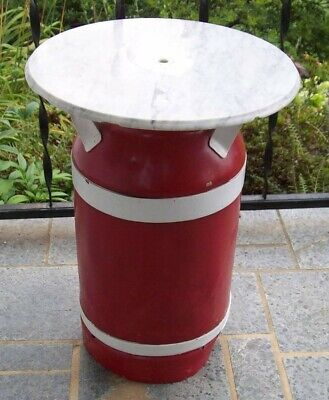 Vintage Milk Can With Marble Top