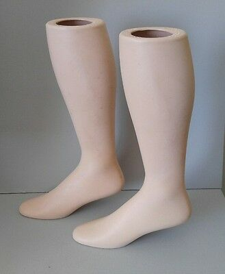 Vntg Pair 17 12 Free Standing Female Mannequin Leg Sock Hosiery Display Foot