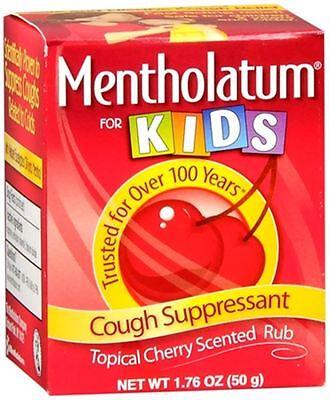 Mentholatum Childrens Chest (Mentholatum Cherry Chest Rub For Kids 1.76 oz (Pack of)
