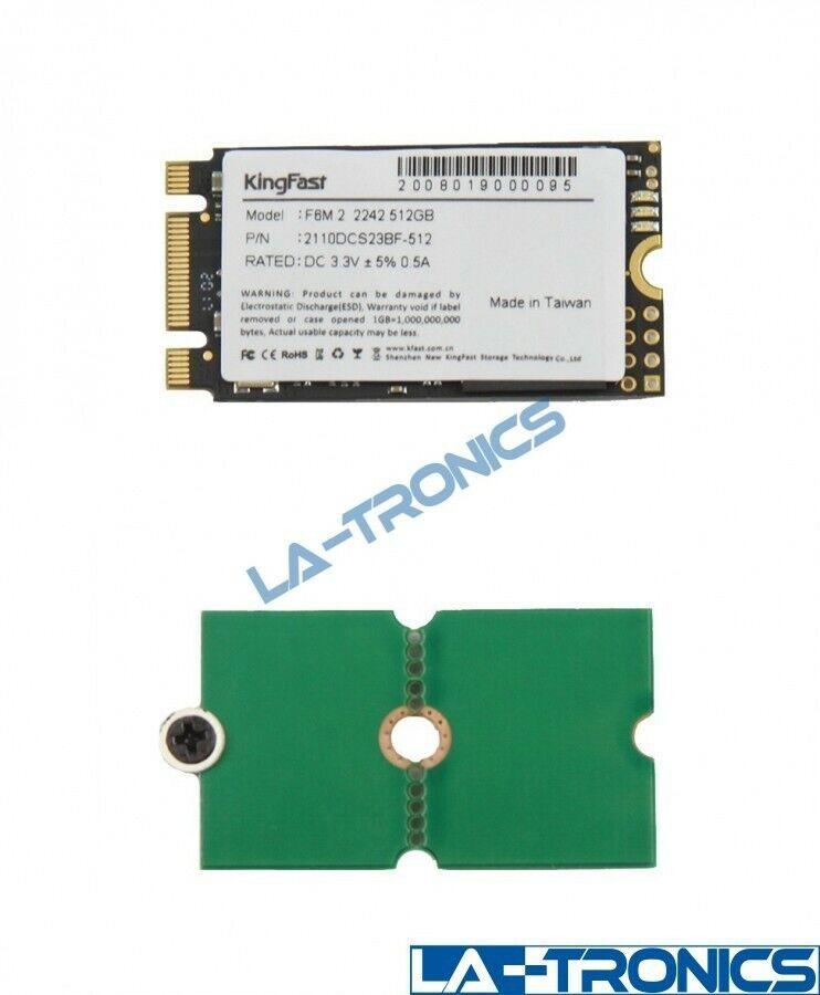 NEW KingFast m.2 SATA 2242 512GB SSD Solid State Hard Drive w/ 2260/2280 Adapter