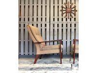 Parker knoll vintage retro mid century armchair chair