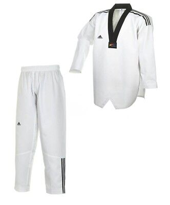 Taekwondo Club (Adidas TAEKWONDO ANZUG, ADI CLUB 3 STRIPES, SCHWARZES REVERS. Taekwondoanzug)