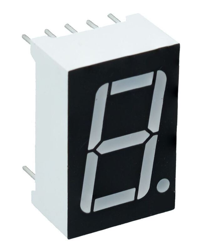"""Red 0.56"""" 1 Digit 7 Seven Segment Display Anode LED"""