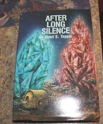 1987 After A Long Silence Sheri Tepper  science fiction HCDJ - f