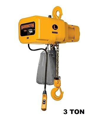 Harrington Ner Electric Chain Hoist 3 Ton Capacity