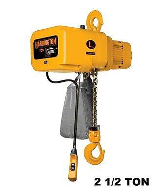 Harrington Ner Electric Chain Hoist 2 12 Ton Capacity