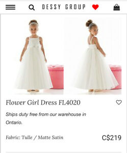 Dessy Flower Girl Dresses - two