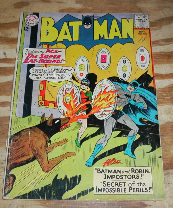 Batman #158 comic book vg 4.0