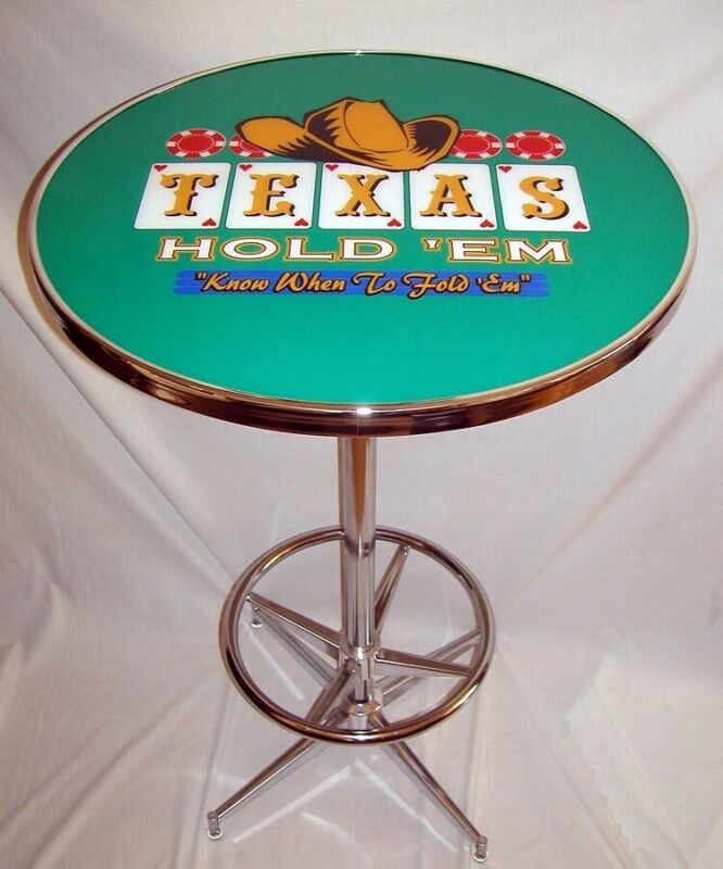 Texas Hold Em Know When to Fold Em Poker Pub Table!!