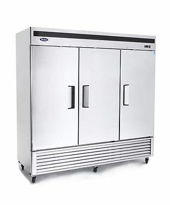 New 3 Door Commercial Reach In Freezer 2 Year Warranty Free Shipping Lift Gate