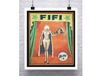 4 LEGGED DUCK Vintage Freak Show Poster Rolled Canvas Giclee Print 32x24 in.