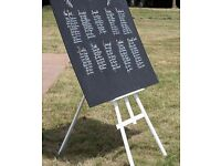 Wedding Easel table plan Chalkboard
