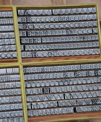 Bleischrift 14p -5,2mm Bleisatz Buchdruck Handsatz Lettern Alphabet Letter Druck