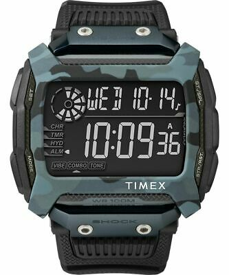 Timex Command Shock 54mm Camo Resin Mens Watch TW5M18200JV