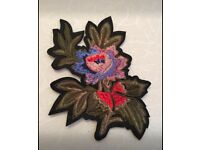 Brand new large flower iron on patch (can post)
