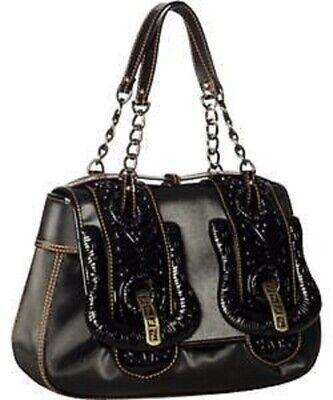 NEW $4750 FENDI Black Pleated Sateen B.Fendi Shoulder Bag Handbag Purse LIMITED