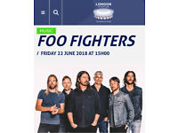 2x Foo Fighters Tickets London Friday 22nd June with basic hotel