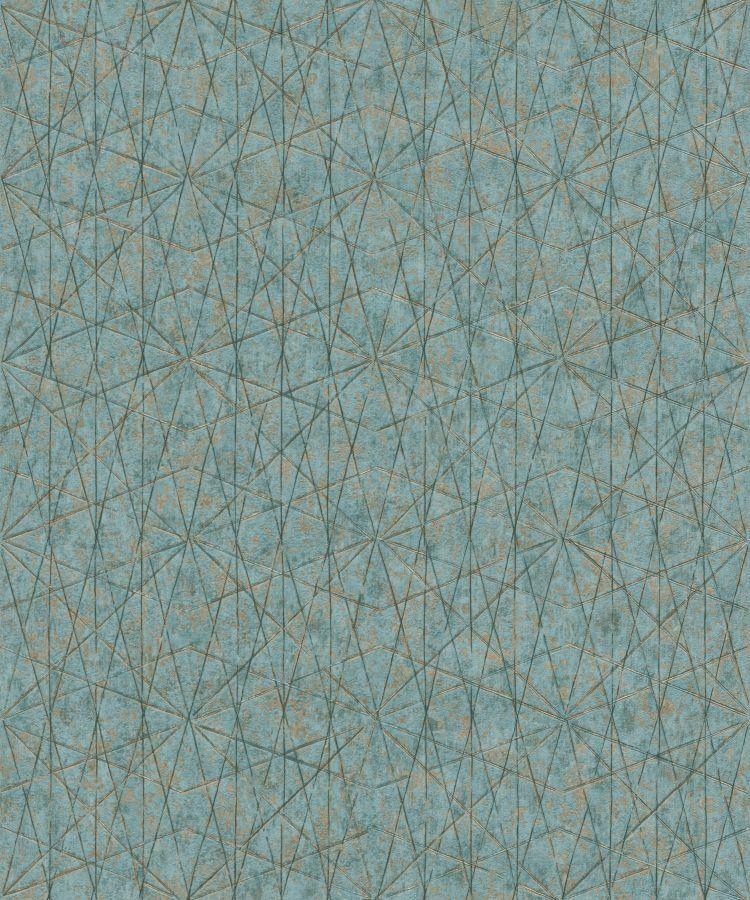 Tapete Nuances Nu3305 Grandeco Vliestapete Grafik Muster Turkis Blau Gold Ebay