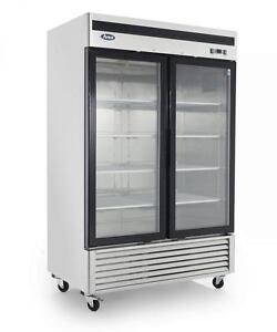 2 door glass front display freezer - brand new - special clearance item