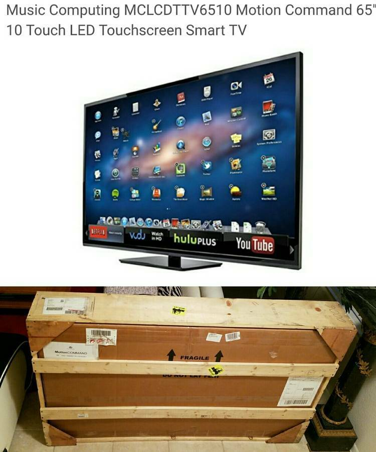 """Music Computing MCLCDTTV6510 Motion Command 65"""" 10 Touch LED Smart TV"""