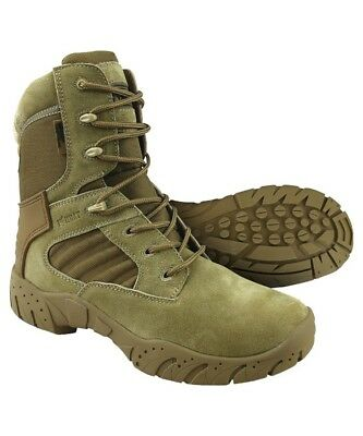 Kombat UK Tactical Pro Boots Coyote Zip Men's Suede Nylon Recon Army Country Coyote Nylon Boot