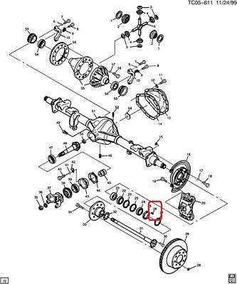 "GENUINE GM 15926379 KEY-Rear Wheel Bearing Adjusting Nut-10.5"", 11.5"" Ring Gear"