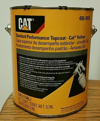 Genuine OEM  CAT YELLOW  One (1) Gallon New Caterpillar PAINT 458-9576 implement