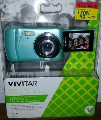 Vivitar ViviCam VXX14 Selfie Digital Camera (Blue) Digital Blue Vivitar Vivicam