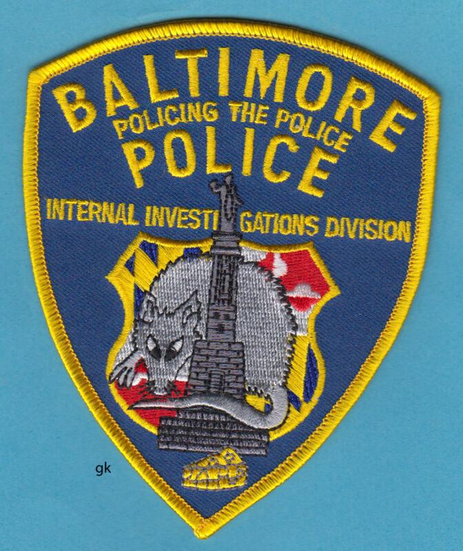 BALTIMORE MARYLAND INTERNAL INVESTIGATIONS DIVISION  POLICE SHOULDER PATCH