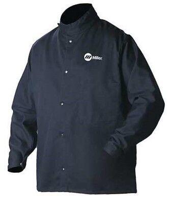 Miller Electric 244754 Welding Jacket Flame-retardant Navy Cottonnylon 2xl