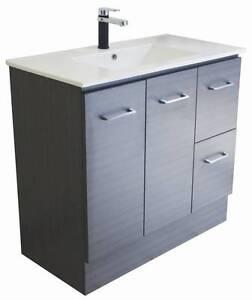 900mm Ceramic Vanity Top + Grey Vanity Cabinet Paradise Campbelltown Area Preview