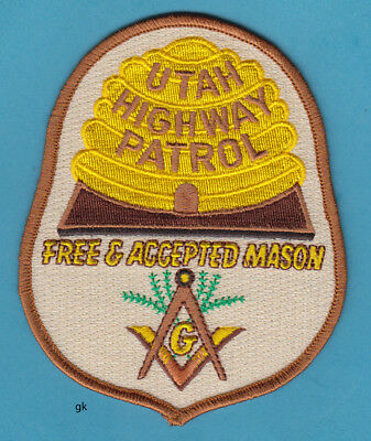 UTAH HIGHWAY PATROL MASON MASONIC  POLICE SHOULDER  PATCH