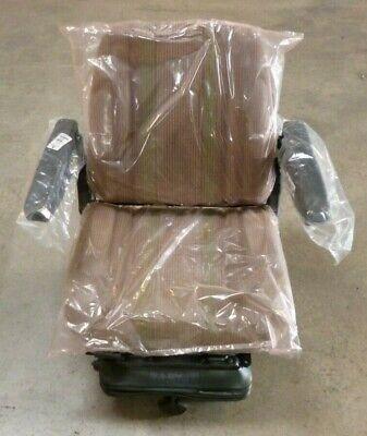 Genuine Oem John Deere Wheel Loader Seat Assembly At174643 Air Suspension Cloth