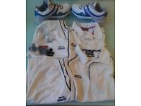 Puma Duro Cell Cricket Spikes with spare Spikes, Cleats and Keys and Cricket Whites (2 Pair)