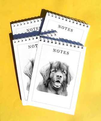 Leonberger Pack of 4, A6 Dog Notepads Gift Set