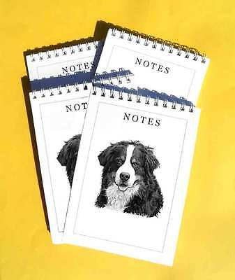 Bernese Mountain Dog Pack of 4, A6 Note Pads Gift Set